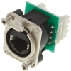 Neutrik NE8FDV-Y110 Panel mount receptacle with IDC 110 punch down terminals