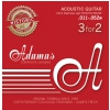 Adamas (664563) Phosphor Bronze Historic Reissue, struny do gitary akustycznej - 3pack Super-Light .011-.052