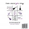 Hannabach (653059) 890 MT struny do gitary klasycznej 1/8, menzura 44-48cm (medium)