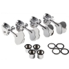 Fender Deluxe ″F″ Stamp Bass Tuning Machines, (4), Chrome