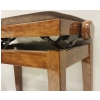 Grenada BG 27 ława do fortepianu, kolor: orzech 3 połysk, obicie welur brąz
