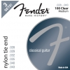 Fender Nylon Acoustic Strings, 100 Clear/Silver, Tie End, Gauges .028-.043, 3-Pack acoustic guitar strings