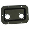 Adam Hall 8708BLK Dish black for 2 XLR or Speakon Sockets