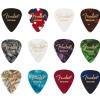 Fender 351 Celluloid Medley guitar picks, 12 pcs., medium