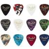 Fender 351 Celluloid Medley guitar picks, 12 pcs., heavy