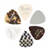 Fender Material Medley 351 guitar pick set, 6 pcs., medium