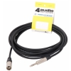 4Audio MIC2022 PRO 6m microphone cable symmetric XLR-M TRS with band,Neutrik