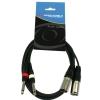 Accu Cable AC 2XM-2J6M 2xXLRm-2xTS cable, 1,5m