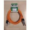 4Audio Monitor Set Orange zestaw przewodów do monitorów studyjnych 2 x 3m  XLRm TRS (pomarańczowy) Neutrik