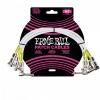 Ernie Ball 6055 guitar cable 0,30m (3-pack)
