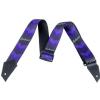Jackson Strap with Double V Pattern BLK/PRPL