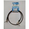 4Audio GT1075 1m guitar cable, 2x angled jack