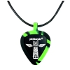 PICKBANDZ 6153TT Necklace Neon Green & Black guitar pick holder