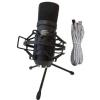 Crono Studio 101 USB BK RP1 - Recording Pack 1 - Zestaw Nagraniowy - Komplet, mikrofon wielkomembranowy USB do komputera + koszyk + pop filtr + 2 rodzaje statywów + przewód USB