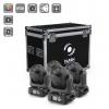 Flash 4 x LED Moving Head 90W DIAMOND - Roto Prism + hard case