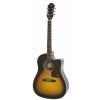 Epiphone J15 EC Deluxe Vintage Sunburst electroacoustic guitar with case