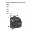Canto Evolution PAB 80 bass accordion case (white inserts)
