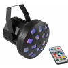 Eurolite LED Mini Z-20 USB - disco light effect - Small derby with 4 LEDs, RGBW color change and IR remote
