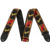 Fender Monogrammed blk/ylw/red guitar strap